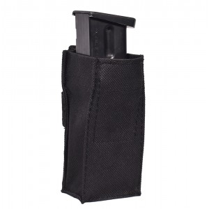 Open Top Molle Pistol Mag Pouch with Kydex Insert  - Single or Double Stack 9mm .40 .45 cal Pistol Magazine Holster - Made in the USA